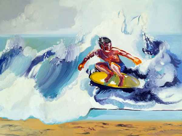 Chinees Surfer